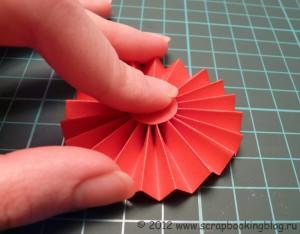 Цветок-розетка из бумаги - Шаг 6