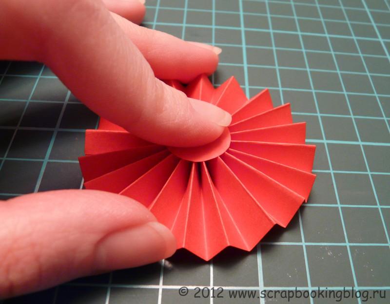 Цветок плоский из бумаги