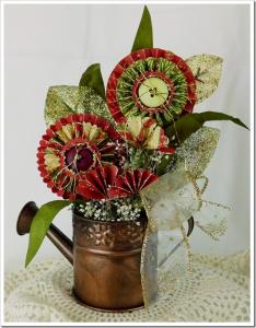 Пример композиции из цветов-розеток