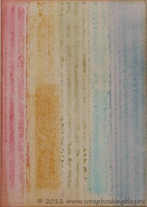 Мастер-класс Тима Хольца, разноцветный штамп с помощью Distress Ink