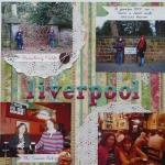 Скрап-альбом о путешествии - Разворот в полоску