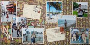 Альбом о путешествиях - разворот про Америку