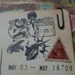 Альбом о путешествиях - почтовые марки