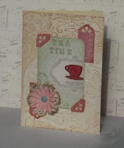 Открытка Tea Time - приглашение на чаепитие
