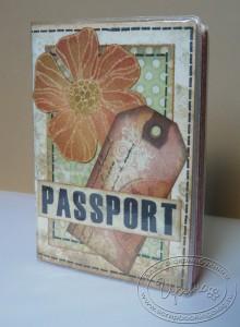 Обложка на паспорт - розовый вариант