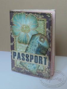 Обложка на паспорт - синий вариант