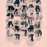Постер с шестиугольниками