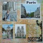Альбом о путешествии - страница про Париж