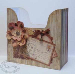 Коробка для салфеток - розовая сторона