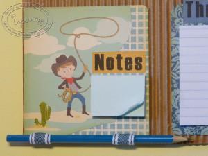 Блок для записей и карандаш