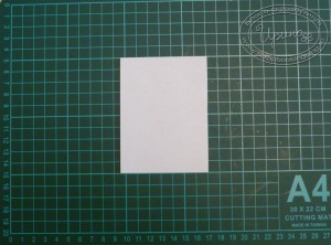 Как сделать шаблон ёлочки - шаг 1