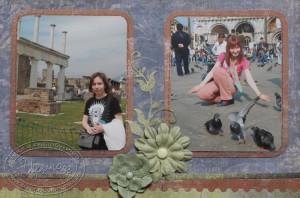 Цветы на странице про поездку в Италию