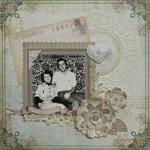 Семейная фотография в стиле скрапбукинг в рамке