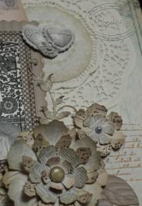 Бумажные украшения на странице
