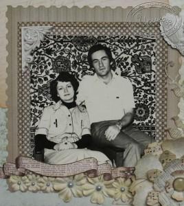 Фотография на подложке с украшениями