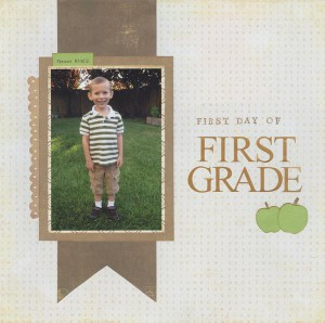Страница First Day of First Grade (автор Cindy312)