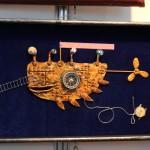 Картина из металла - желтая подводная лодка