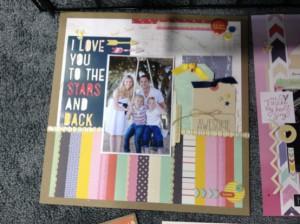 Пример страницы (бумага American Crafts, коллекция Dear Lizzy Lucky Charm)