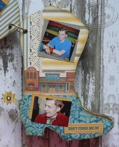 Альбом в форме сапога: вторая страница