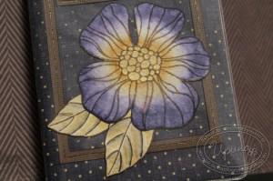 Раскрашенный штамп - цветок