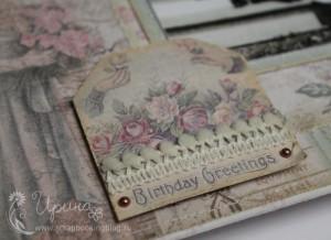 Шебби-альбом для девочки: поздравление с днем рождения