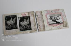 Шебби-альбом для девочки: второй разворот