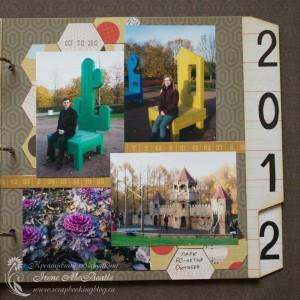 Страница про осеннюю прогулку в фотоальбом про 2012 год