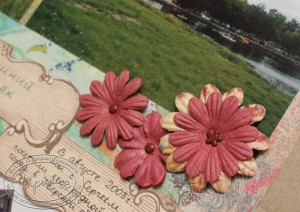 Цветочки на странице о поездке в Вышний Волочек
