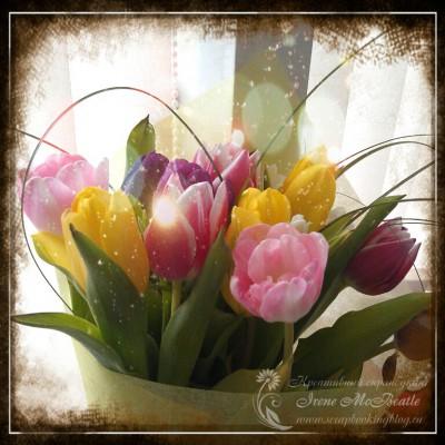 Букет тюльпанов на 8 марта