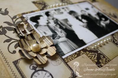 Альбом на жемчужную свадьбу: цветы и жемчужины