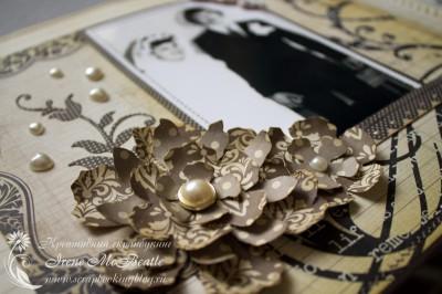 Альбом на жемчужную свадьбу: Tattered Floral