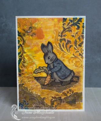 Коллаж про лето с зайцем