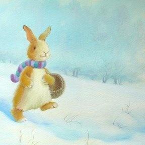 Зимний зайчик, иллюстрация Alison Edgson