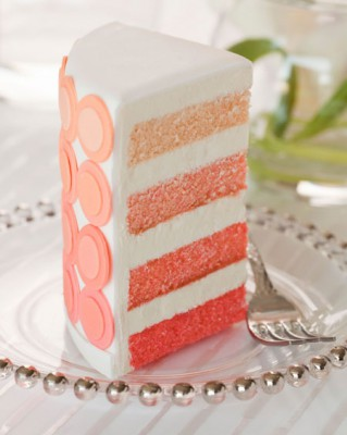 Свадебный торт с эффектом омбре