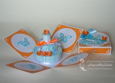 Коробочка с бумажным тортиком