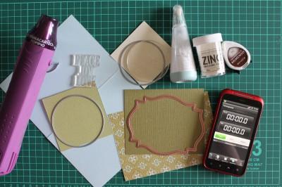 Подготовка материалов для создания быстрой открытки