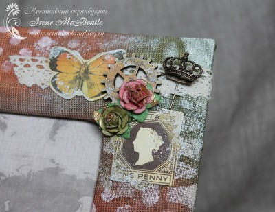 Различные бумажные, деревянные и металлические украшения