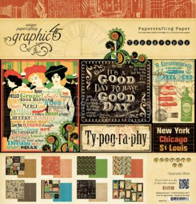 Graphic 45, коллекция Typography