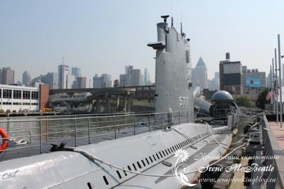 Подводная лодка в Нью-Йорке