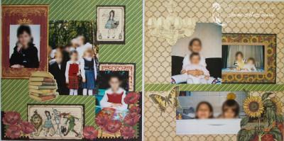 Большой фотоальбом: школа и младшая сестра