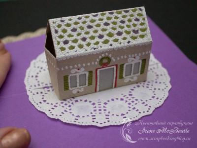 МК: 3D открытка с пряничным домиком