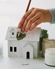 Большой домик из бумаги с крыльцом