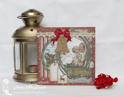 Новогодняя открытка с колокольчиком
