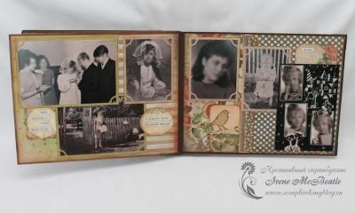 Фотоальбом для бабушки - свадьба и дочка