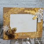 Зимняя фоторамка в золотом и белом