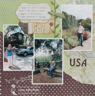 Скрап-страничка о поездке в США