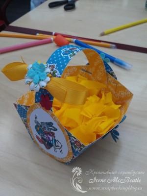 Корзиночка для яиц на детском мастер-классе