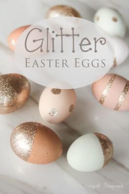 Пасхальные яйца с блестками