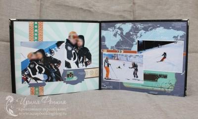"""Мужской альбом - разворот """"на лыжах"""""""