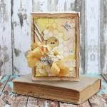 Винтажная открытка с пчелкой